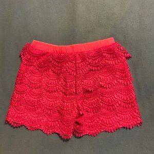 Disney Okie Dokie Pink Lace Shorts Size 6X